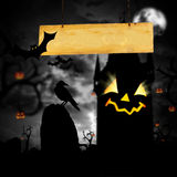 Scary jack o lantern halloween background Royalty Free Stock Photos