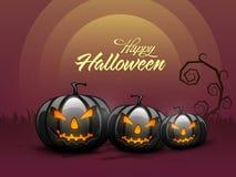 Scary Jack O Lantern for Halloween Party celebration. Stock Image