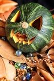 Scary Jack O Lantern halloween pumpkin Royalty Free Stock Photography