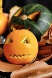 Scary Jack O Lantern halloween pumpkin Stock Image