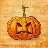 Scary Jack O Lantern halloween pumpkin Stock Images