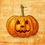 Scary Jack O Lantern halloween pumpkin Royalty Free Stock Photos