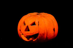 Scary Jack O Lantern Halloween Pumpkin Stock Photography