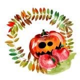 Scary Jack O Lantern halloween pumpkin Royalty Free Stock Image