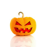 Scary Jack O'Lantern isolated on white Royalty Free Stock Photography