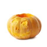 Scary Jack-O-Lantern pumpkin isolated Stock Image