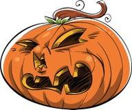 Scary Jack 'O Lantern Royalty Free Stock Images