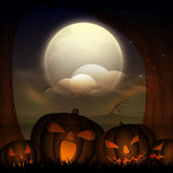 Scary Jack O Laterns for Halloween Party celebration. Royalty Free Stock Images
