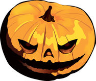 Scary Jack pumpkin Head Illustration Royalty Free Stock Photos