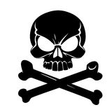 Scary Jolly Roger with bones Stock Image