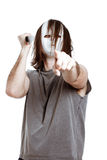 Scary killer man with knife Royalty Free Stock Image