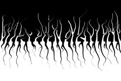 Monochromatic abstract. Dark trees and their roots. Scary liquify effect. royalty free illustration
