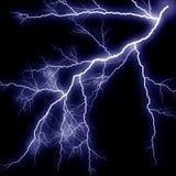 Scary lightning. On black background Stock Images