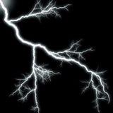 Scary lightning. On black background Stock Photography