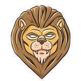 Scary Lion Head Stock Image