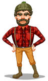 A scary lumberjack standing Stock Photography