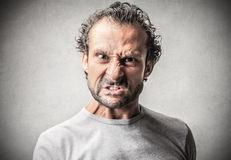Scary man with a danger expression Stock Image