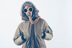 Scary man with mask Stock Images