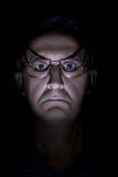 Scary man's face Stock Photos