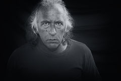 Scary man staring at viewer Stock Photography