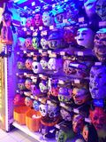 Scary masks. Scary Halloween costumes stock image
