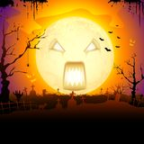 Scary Monn in Halloween Stock Images