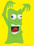 Scary monster. Creature screaming - illustration Stock Images