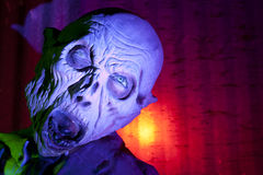 Scary Monster. Scary ghoul in haunted house with colored light Stock Images