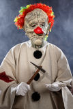 Scary monster clown Stock Photo