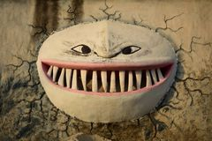 Scary monster face stock images