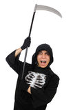 Scary monster with scythe Royalty Free Stock Images