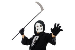 Scary monster with scythe Royalty Free Stock Photo