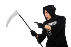 Scary monster with scythe Royalty Free Stock Photography