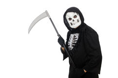 Scary monster with scythe Stock Images