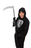 Scary monster with scythe Stock Photos