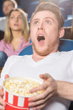 Scary movies at the cinema Stock Photography