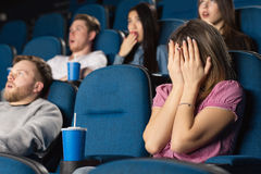 Scary movies at the cinema Stock Photos