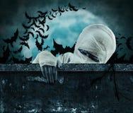 Scary mummy stock photo