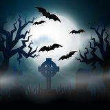 Scary night Halloween illustrationl Royalty Free Stock Photos