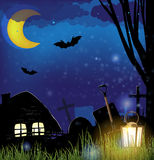 Scary night landscape Royalty Free Stock Image