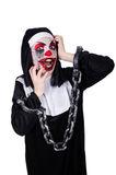 The scary nun in halloween concept Stock Photography