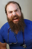 Scary Nurse. An angry nurse growls at the camera Stock Images