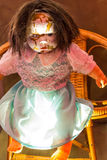 Scary old, broken doll. Royalty Free Stock Photography