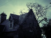 Scary old house in Scotland Royalty Free Stock Photography