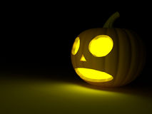 A scary old pumpkin Stock Image