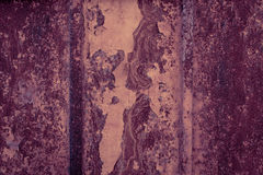 Scary old rusty metal background texture. Dark scratched mystic. Wall, abandoned building Stock Photos
