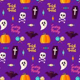 Scary Party Halloween Seamless Background Stock Photography