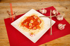 Scary pasta Stock Photo