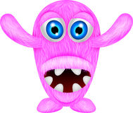 Scary pink monster Stock Images