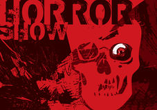 Scary poster. With skull. Vector illustration Royalty Free Stock Photos